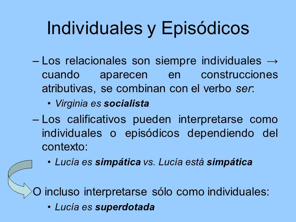 Individuales y Episódicos
