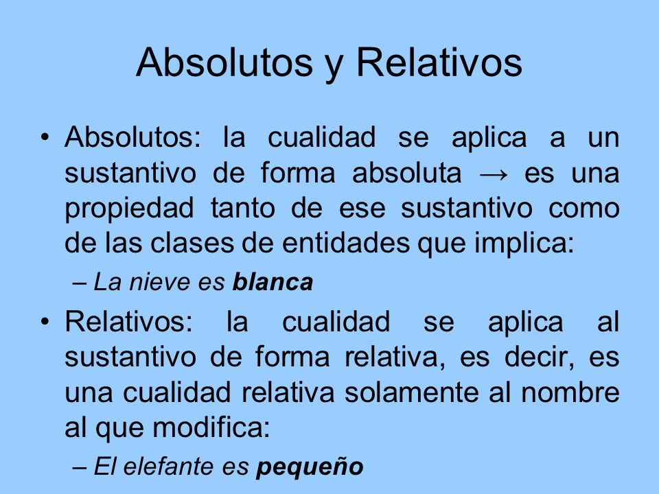 Absolutos y Relativos