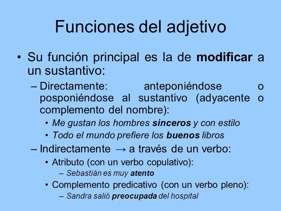 Funciones del adjetivo