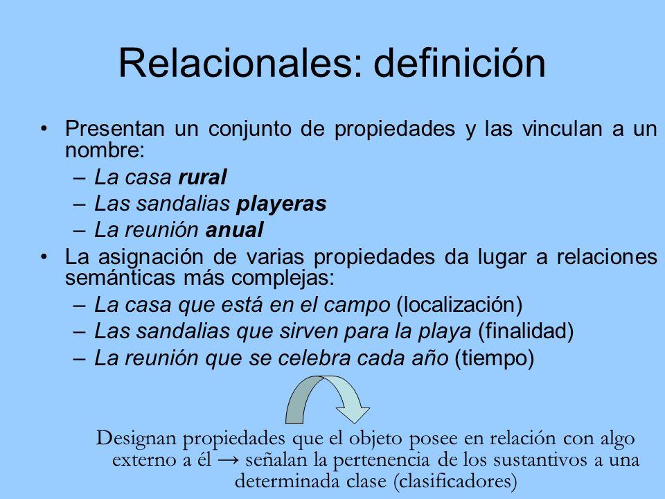 Relacionales: definición