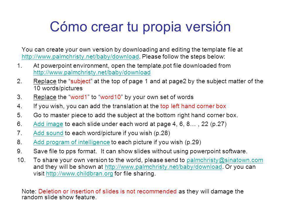 Cómo crear tu propia versión