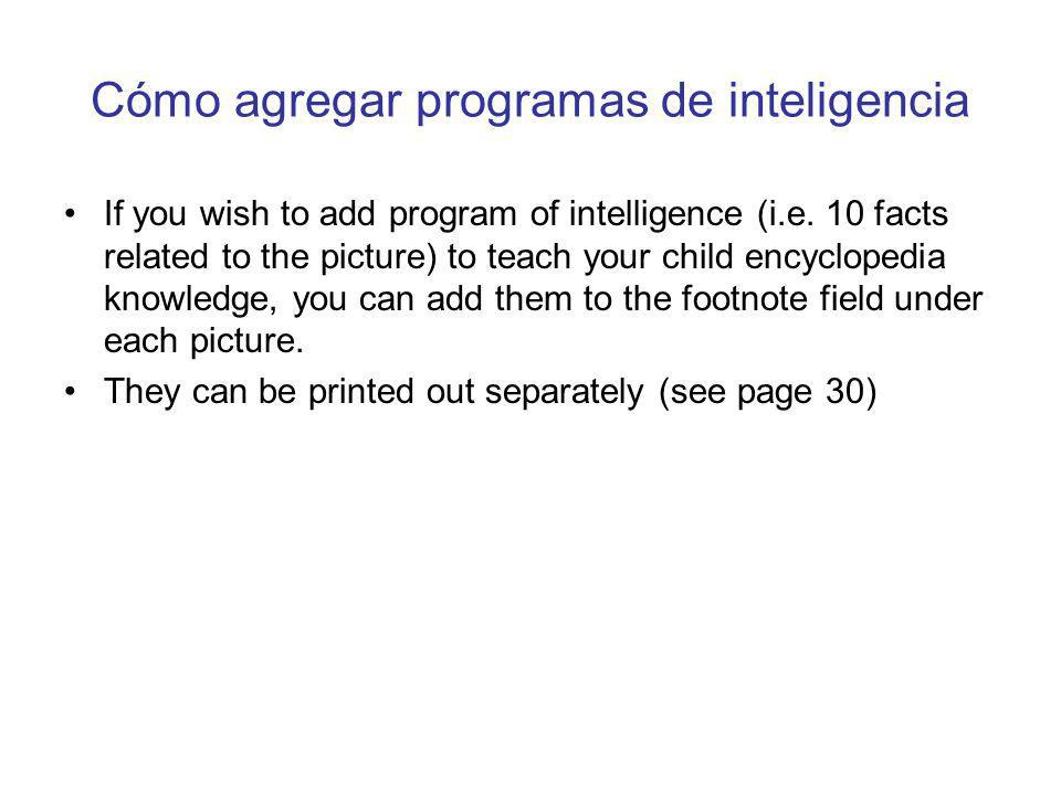 Cómo agregar programas de inteligencia