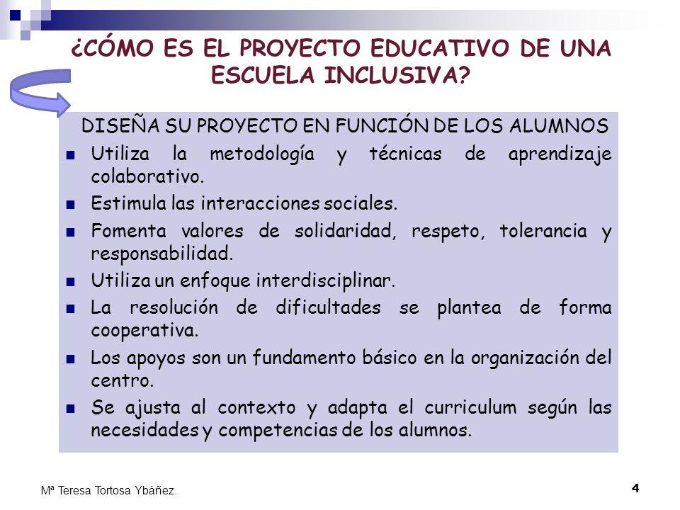 ¿CÓMO ES EL PROYECTO EDUCATIVO DE UNA ESCUELA INCLUSIVA