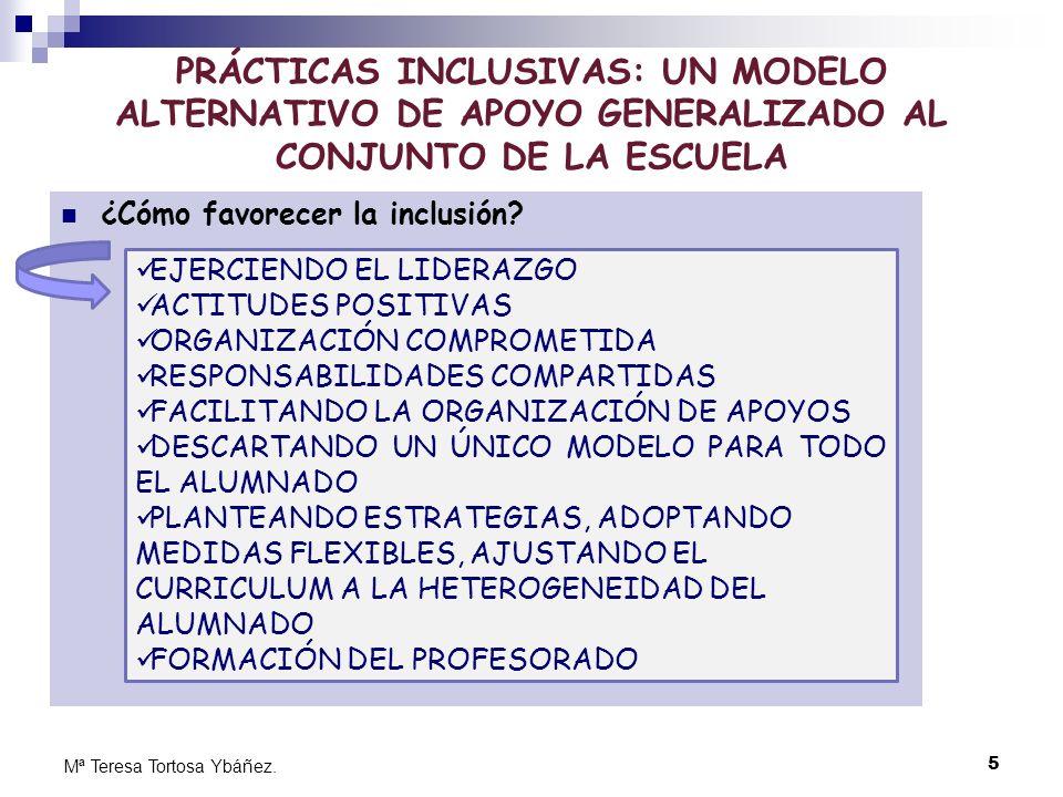 PRÁCTICAS INCLUSIVAS: UN MODELO ALTERNATIVO DE APOYO GENERALIZADO AL CONJUNTO DE LA ESCUELA