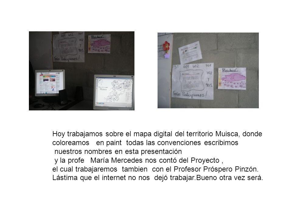 Hoy trabajamos sobre el mapa digital del territorio Muisca, donde