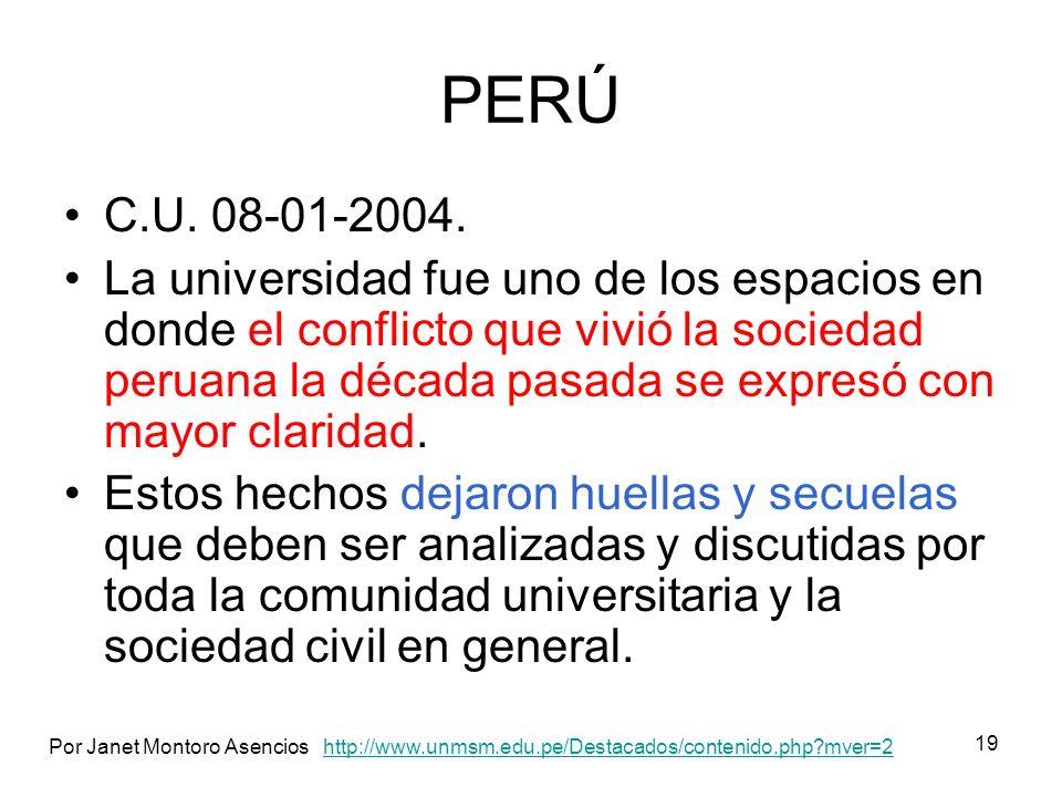 PERÚ C.U. 08-01-2004.