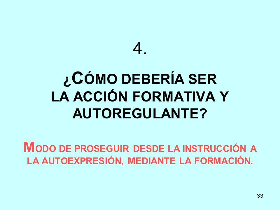 4. ¿CÓMO DEBERÍA SER LA ACCIÓN FORMATIVA Y AUTOREGULANTE