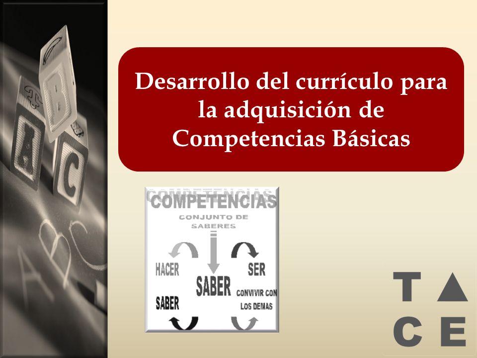 Desarrollo del currículo para la adquisición de Competencias Básicas