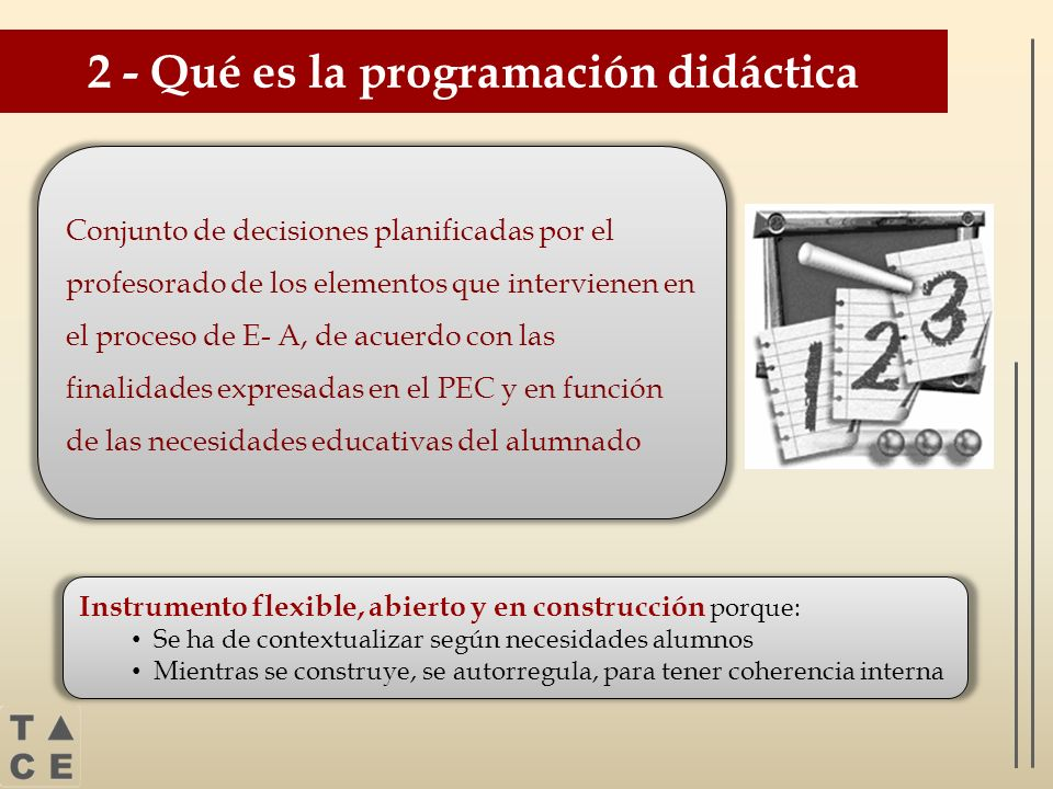 2 - Qué es la programación didáctica