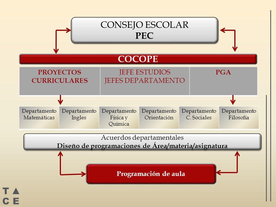 CONSEJO ESCOLAR PEC COCOPE PROYECTOS CURRICULARES