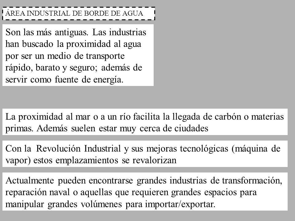 ÁREA INDUSTRIAL DE BORDE DE AGUA