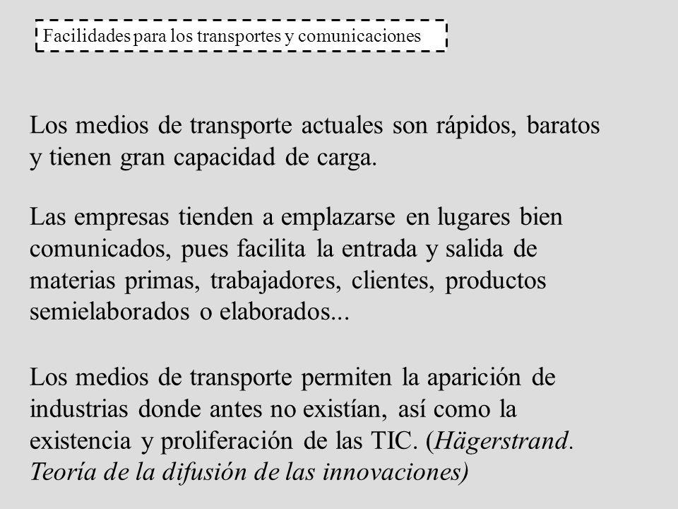 Facilidades para los transportes y comunicaciones