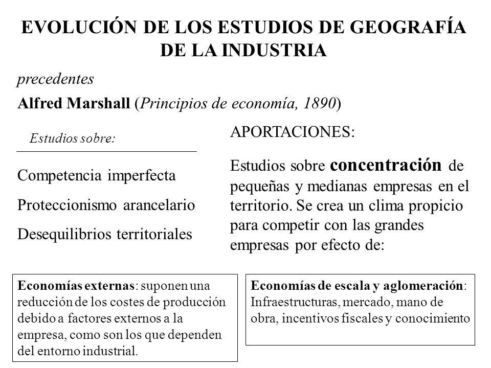 EVOLUCIÓN DE LOS ESTUDIOS DE GEOGRAFÍA DE LA INDUSTRIA