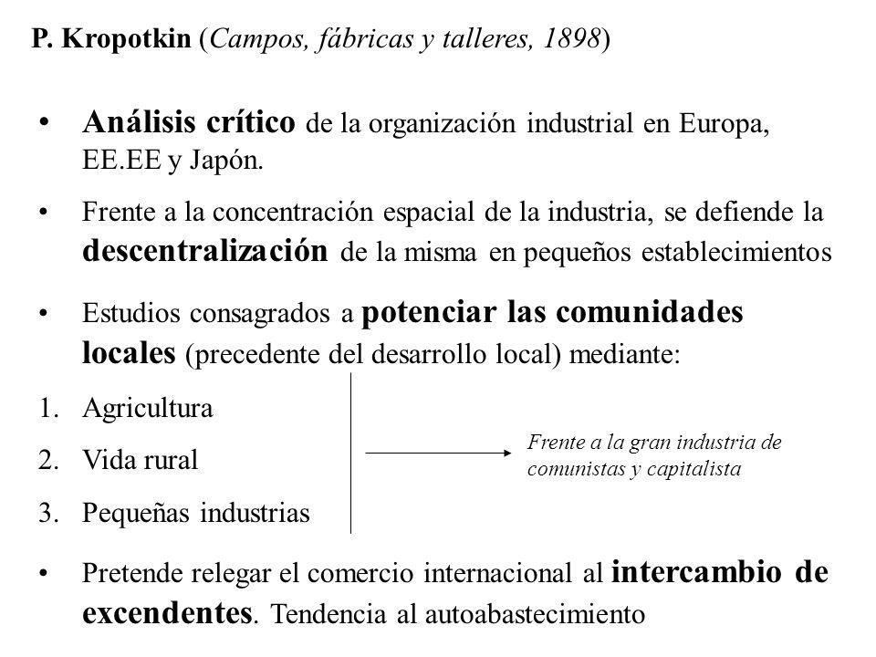 P. Kropotkin (Campos, fábricas y talleres, 1898)