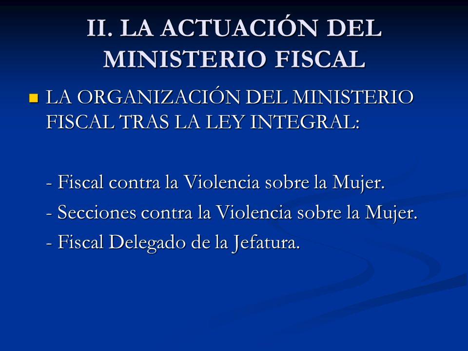II. LA ACTUACIÓN DEL MINISTERIO FISCAL