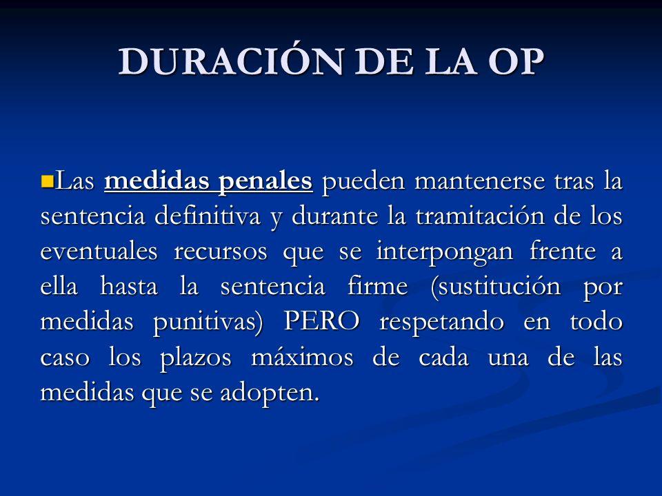 DURACIÓN DE LA OP