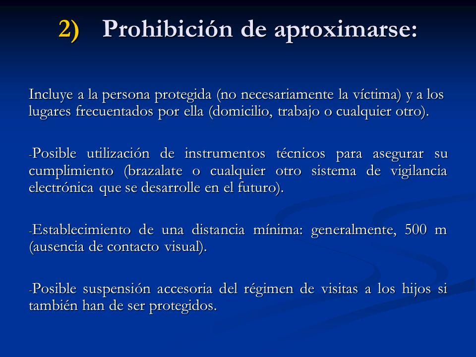 Prohibición de aproximarse: