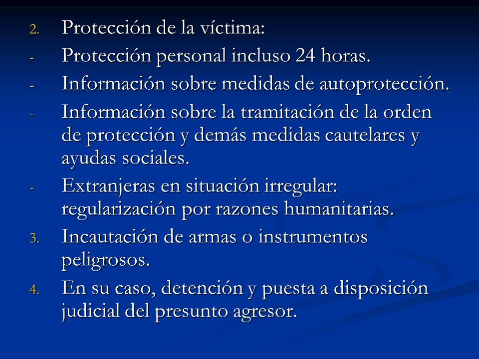 Protección de la víctima: