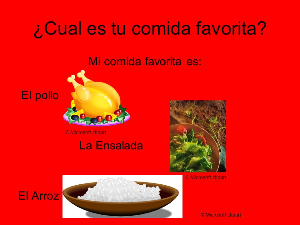 ¿Cual es tu comida favorita