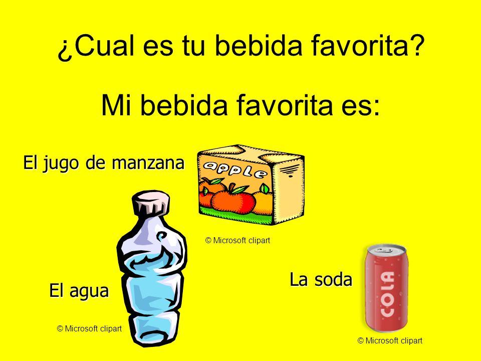 ¿Cual es tu bebida favorita