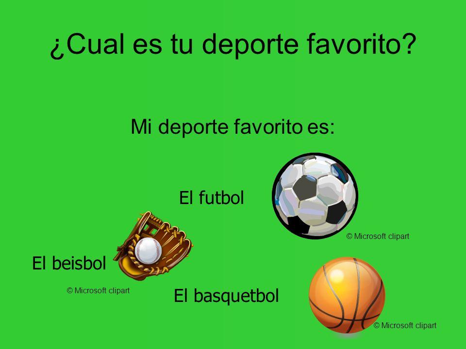 ¿Cual es tu deporte favorito