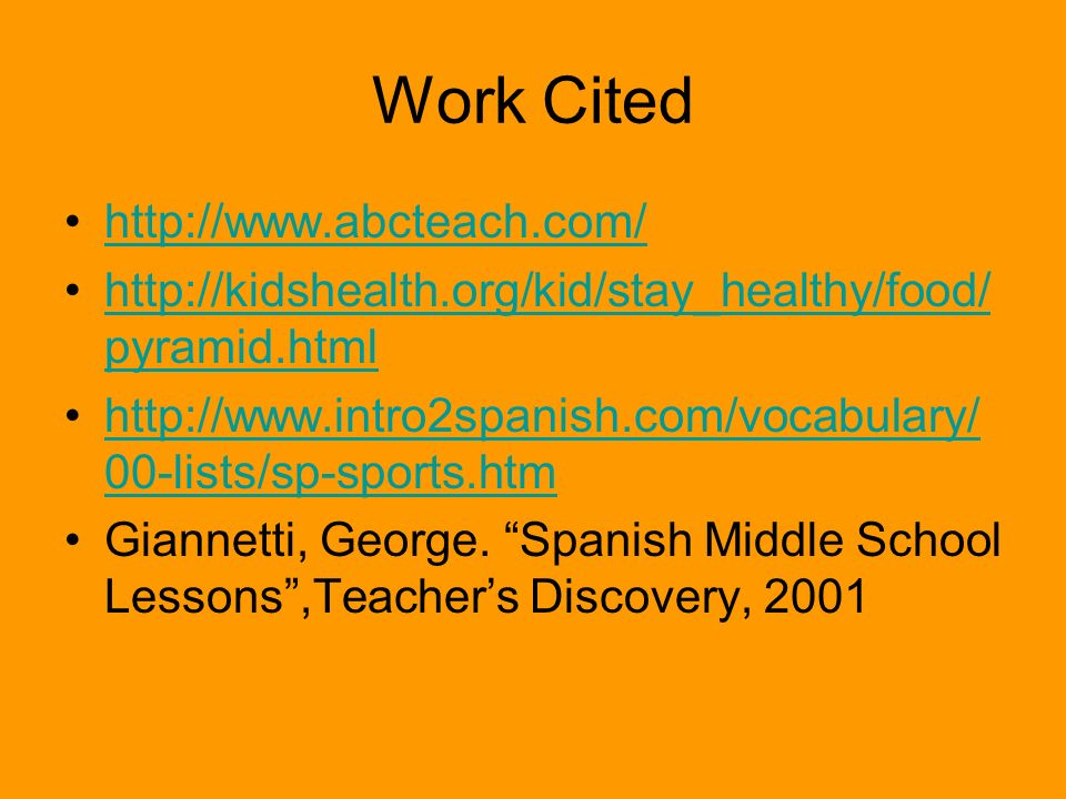 Work Cited http://www.abcteach.com/