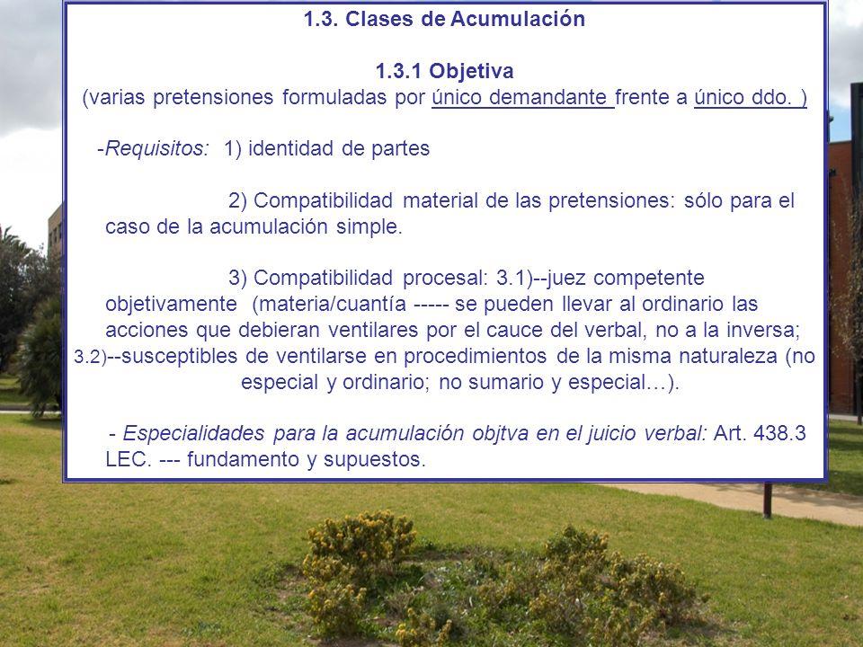 1.3. Clases de Acumulación 1.3.1 Objetiva