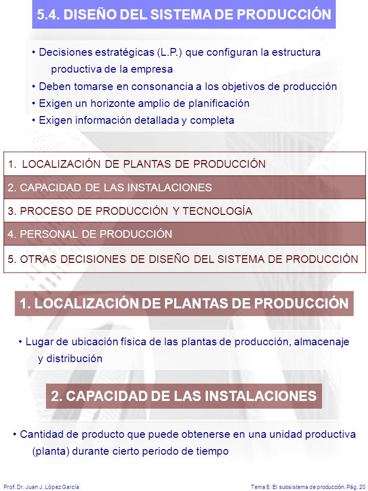 5.4. DISEÑO DEL SISTEMA DE PRODUCCIÓN