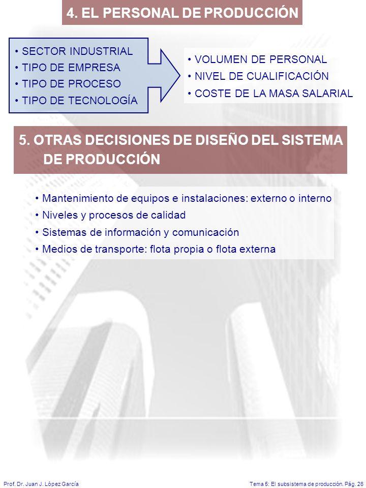 4. EL PERSONAL DE PRODUCCIÓN