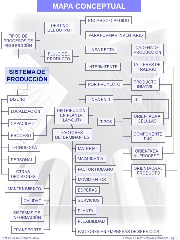 MAPA CONCEPTUAL SISTEMA DE PRODUCCIÓN ENCARGO O PEDIDO DESTINO