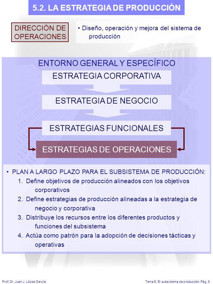 5.2. LA ESTRATEGIA DE PRODUCCIÓN