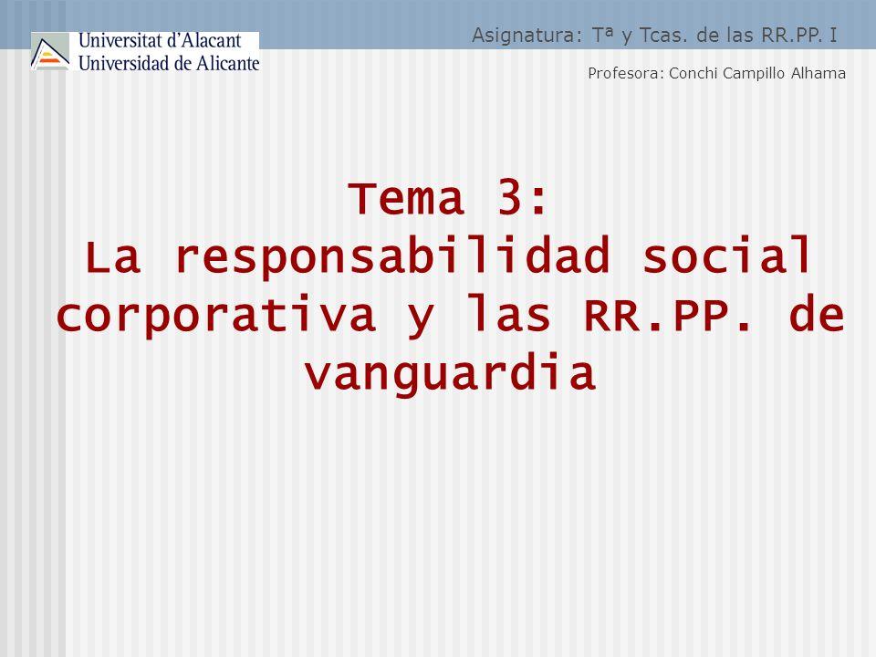 Asignatura: Tª y Tcas. de las RR.PP. I