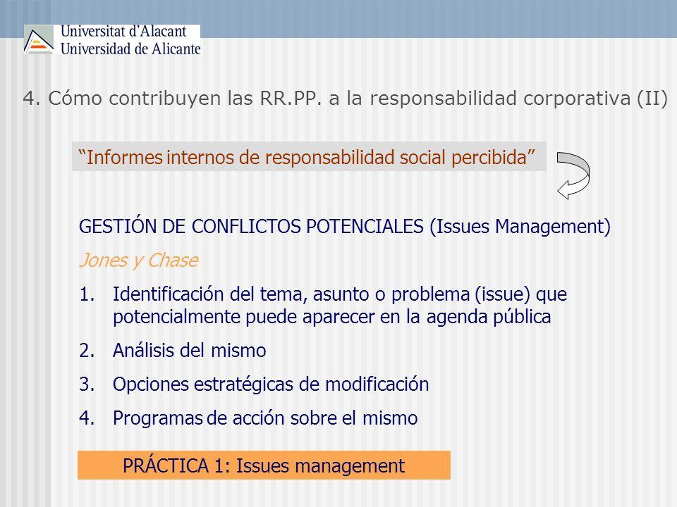 4. Cómo contribuyen las RR.PP. a la responsabilidad corporativa (II)