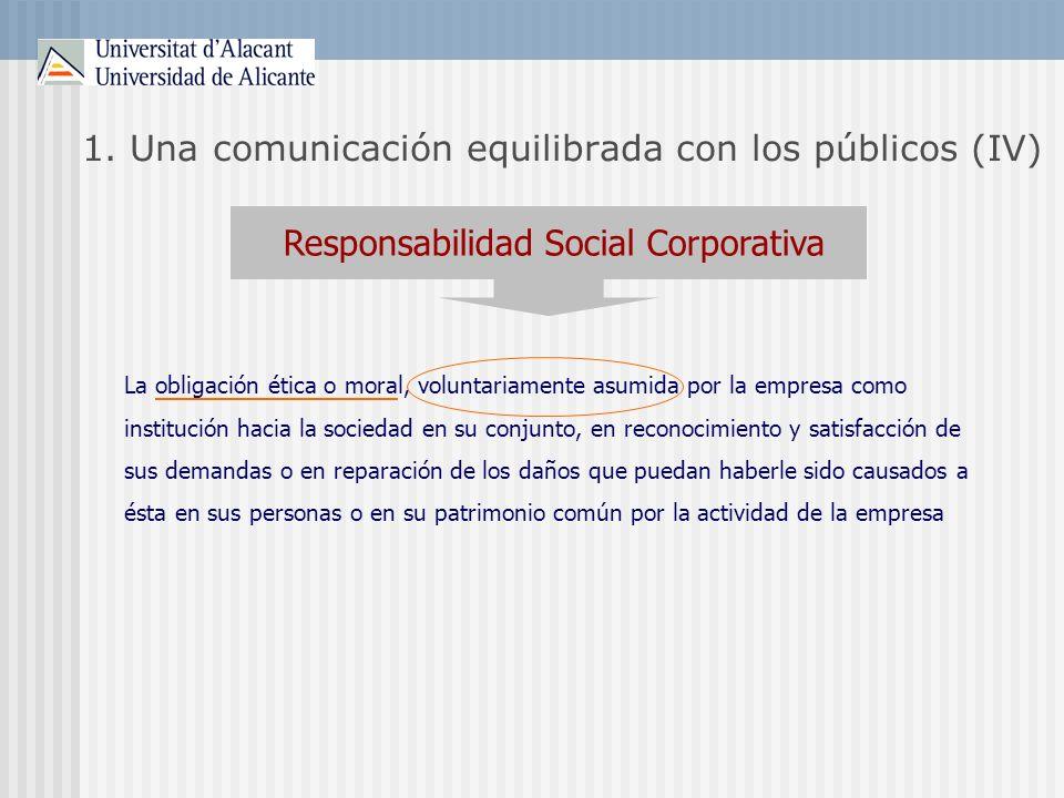 1. Una comunicación equilibrada con los públicos (IV)