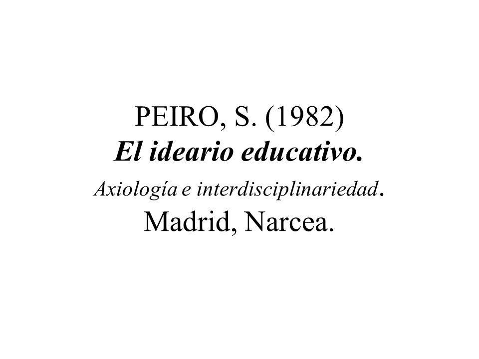 PEIRO, S. (1982) El ideario educativo