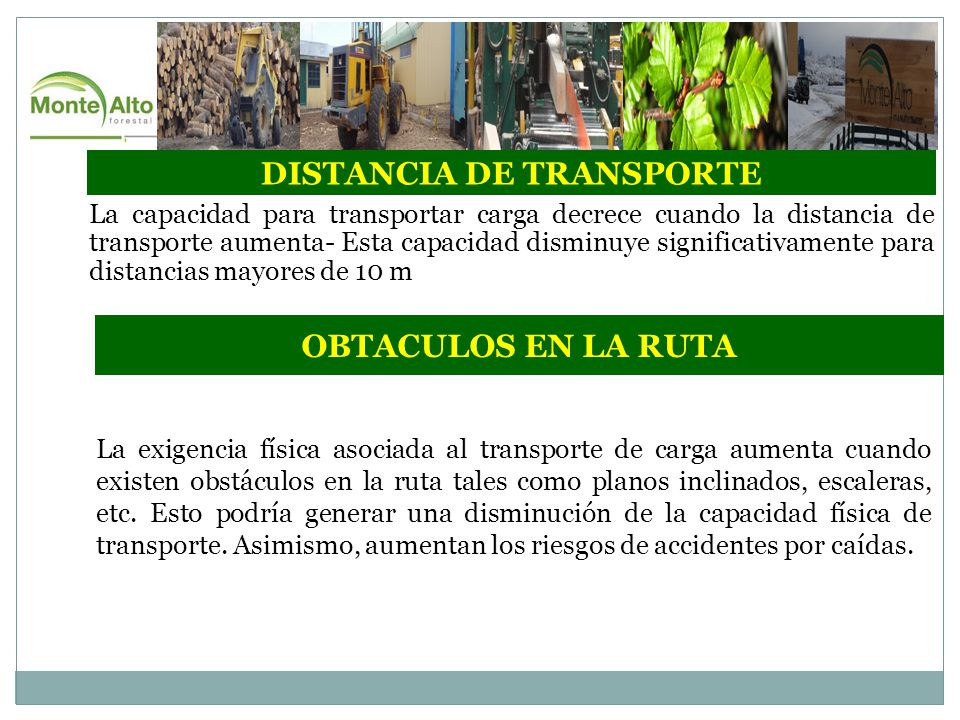 DISTANCIA DE TRANSPORTE
