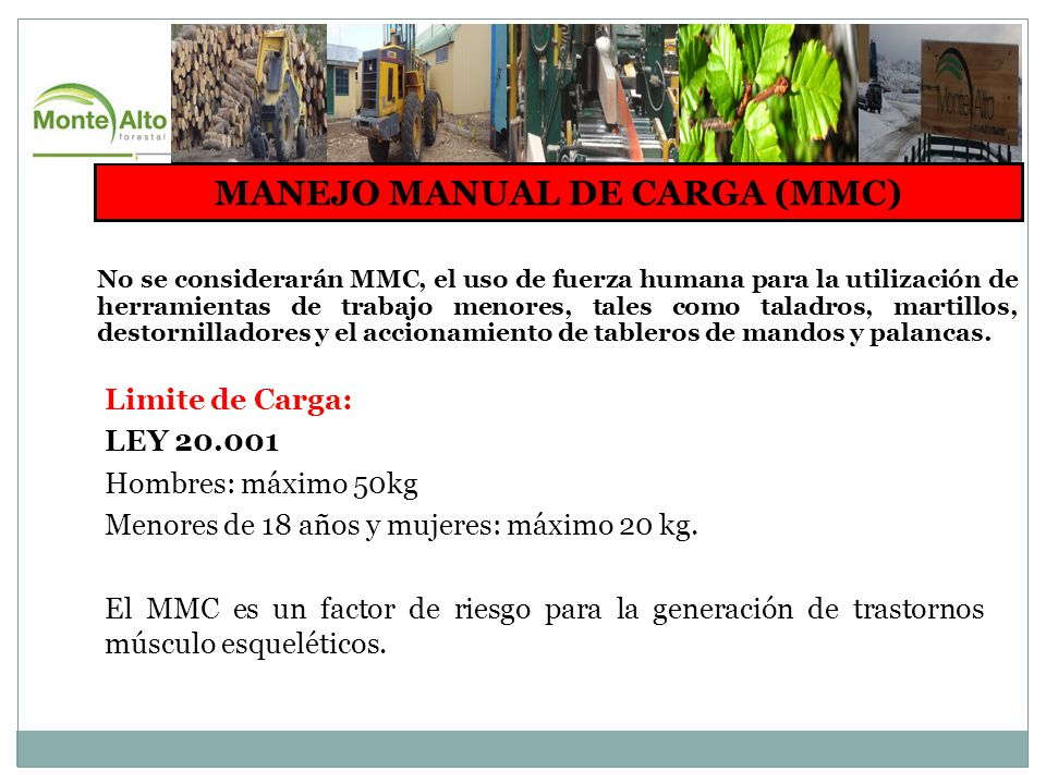 MANEJO MANUAL DE CARGA (MMC)