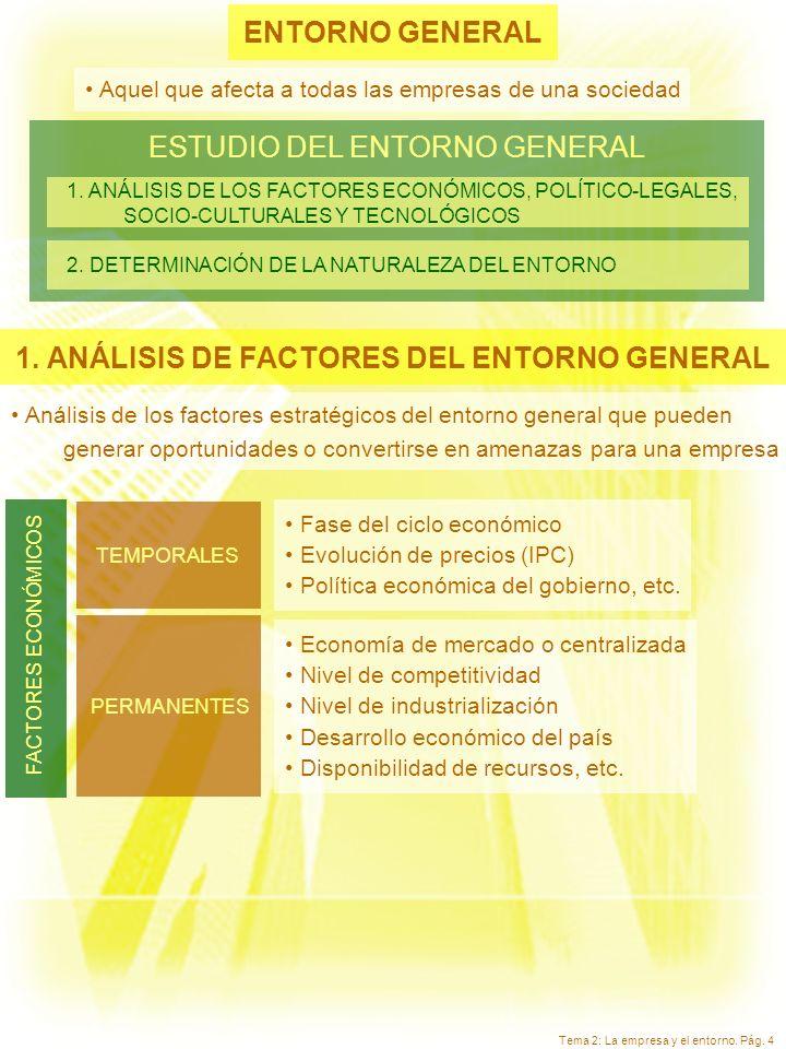 1. ANÁLISIS DE FACTORES DEL ENTORNO GENERAL