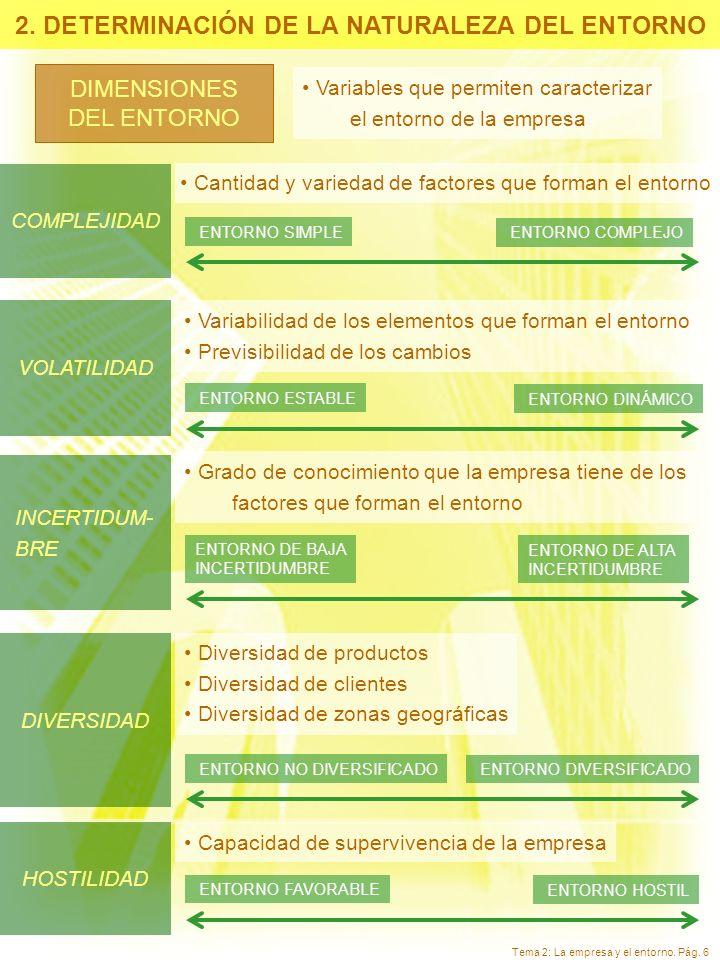 2. DETERMINACIÓN DE LA NATURALEZA DEL ENTORNO