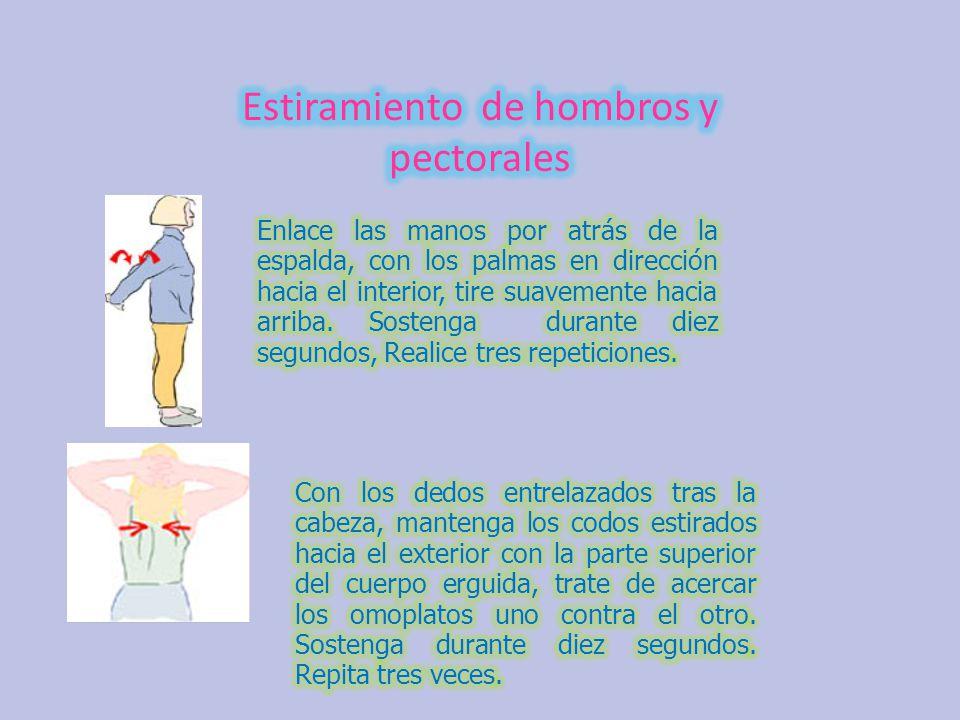 Estiramiento de hombros y pectorales