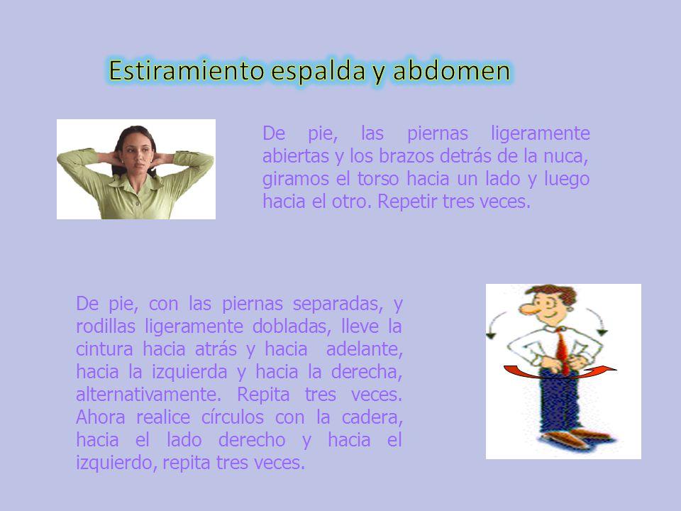 Estiramiento espalda y abdomen