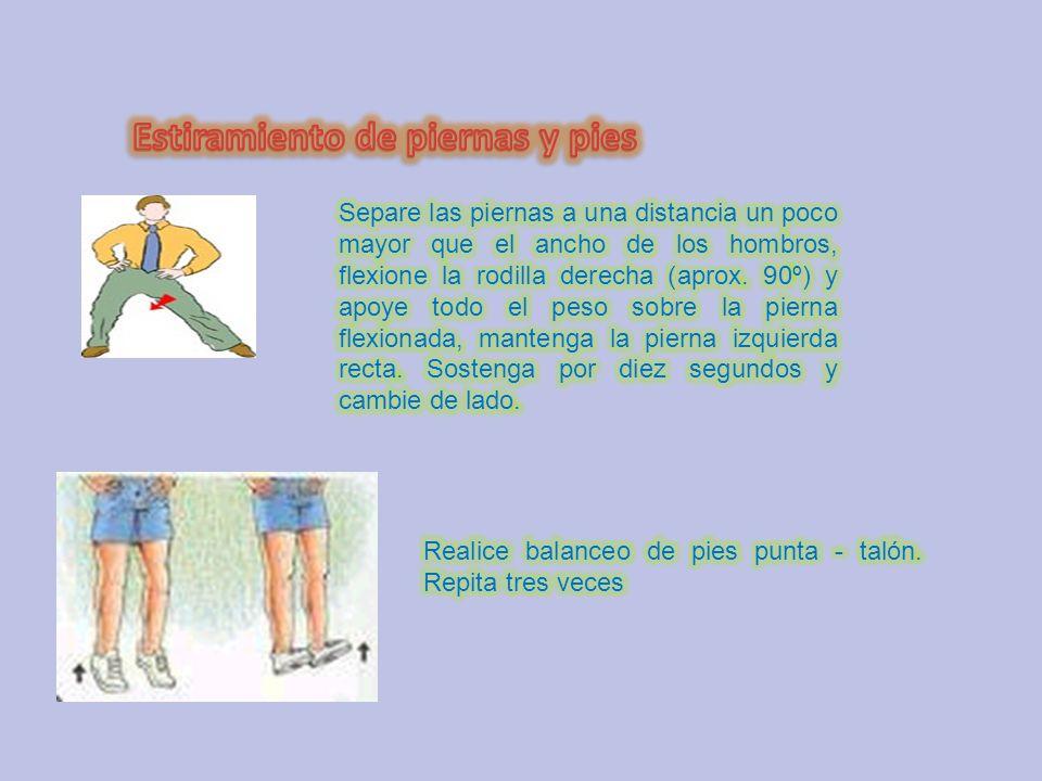 Estiramiento de piernas y pies