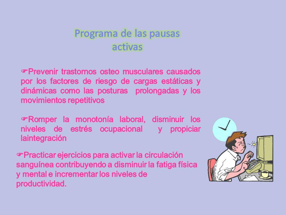 Programa de las pausas activas