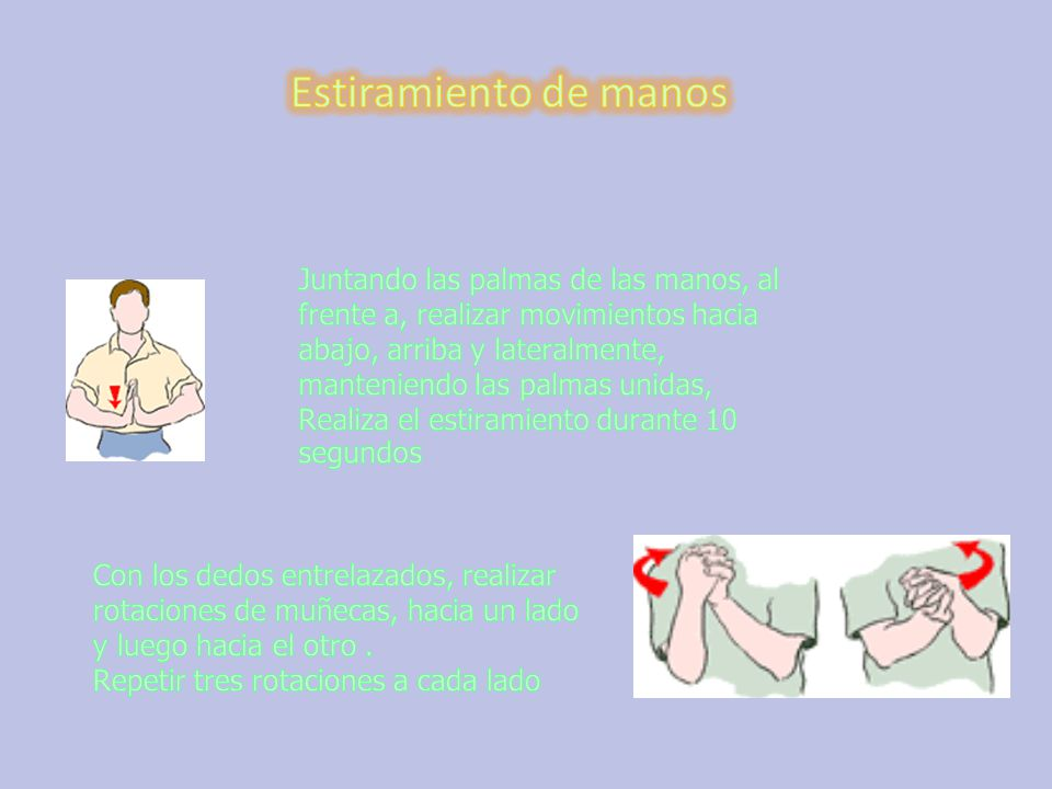 Estiramiento de manos
