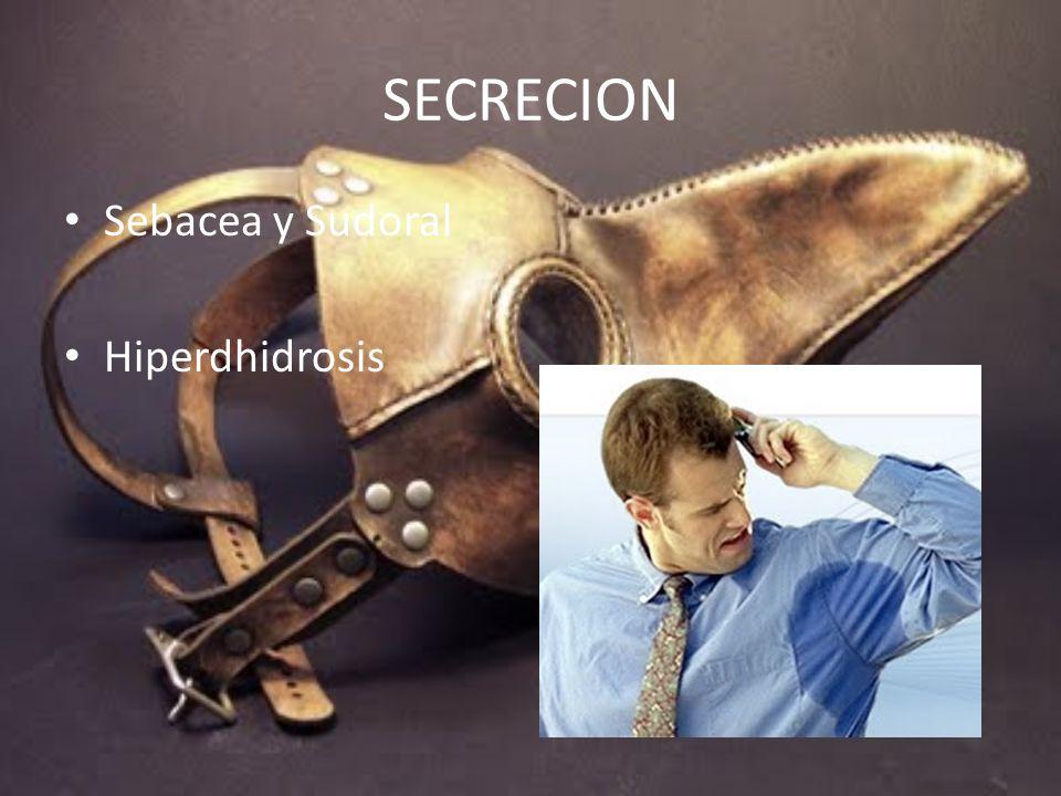 SECRECION Sebacea y Sudoral Hiperdhidrosis