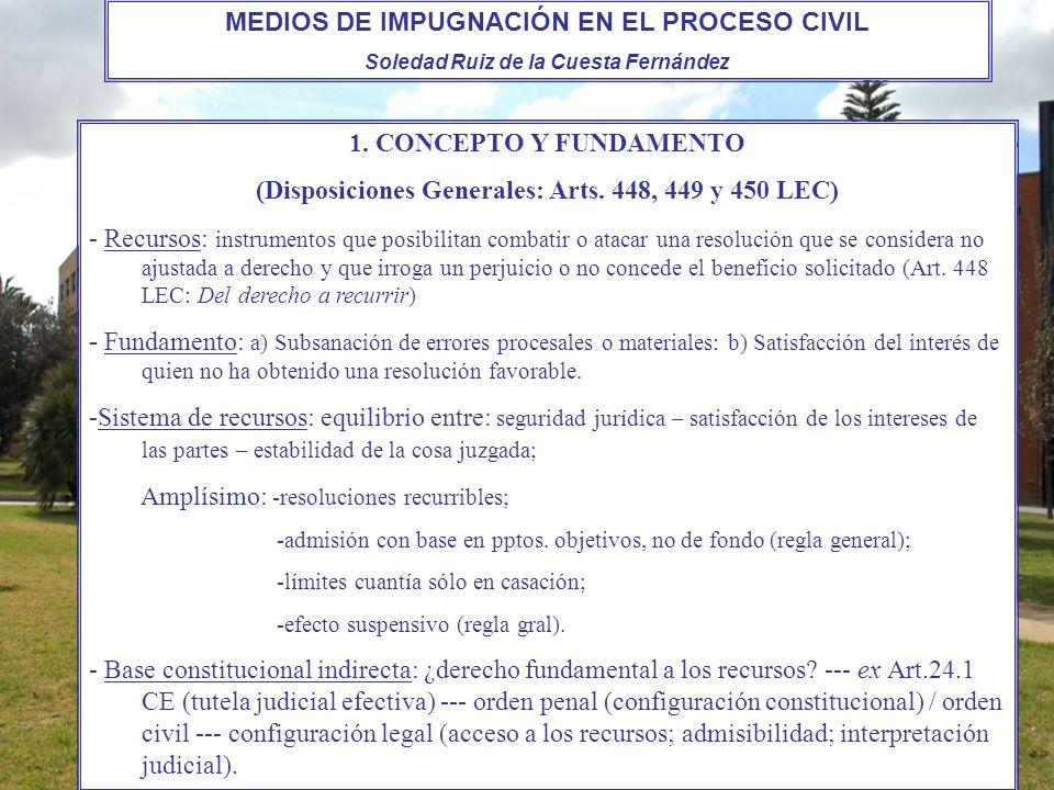 MEDIOS DE IMPUGNACIÓN EN EL PROCESO CIVIL