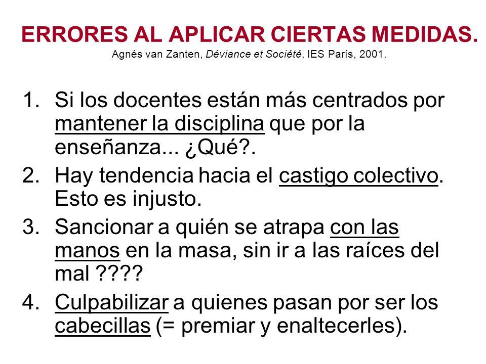 ERRORES AL APLICAR CIERTAS MEDIDAS