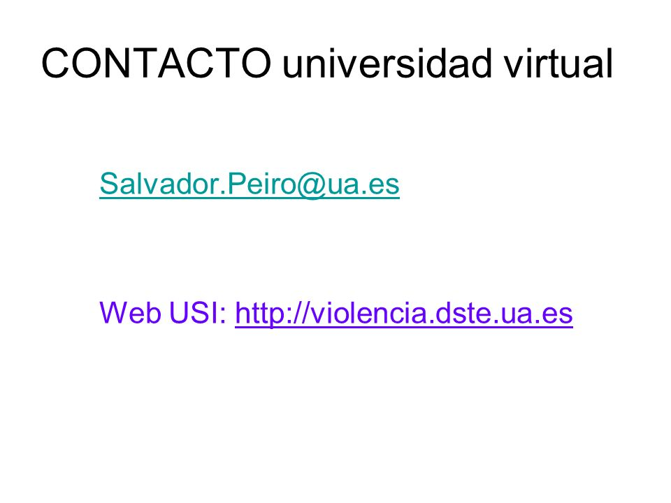 CONTACTO universidad virtual