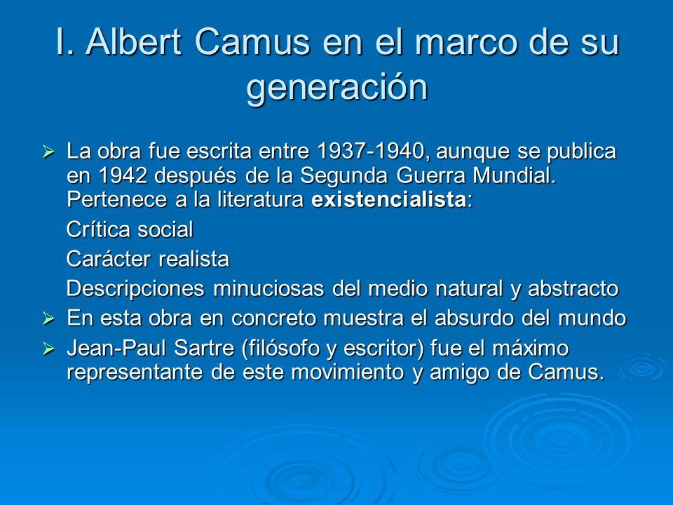 I. Albert Camus en el marco de su generación