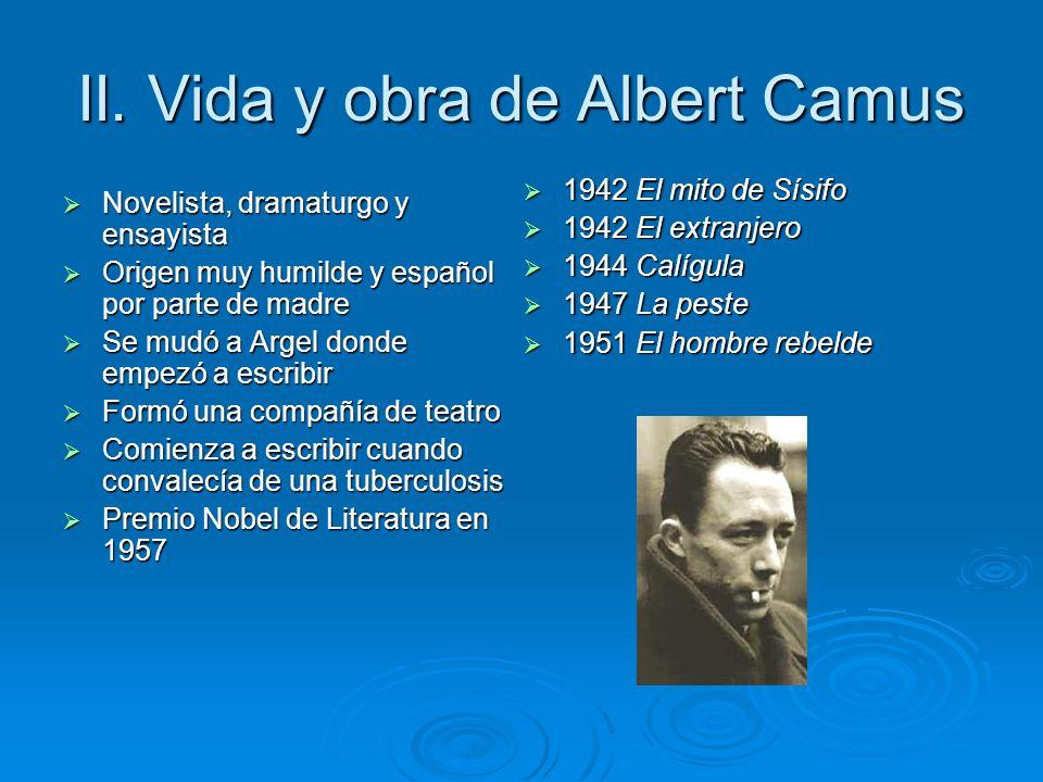 II. Vida y obra de Albert Camus